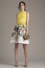 Drexcode - Lace and floreal short dress - Monique Lhuillier - Rent - 3