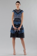 Drexcode - Short dress with flounces and floral embroidery - Needle&Thread - Rent - 1