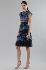 Drexcode - Short dress with flounces and floral embroidery - Needle&Thread - Rent - 4