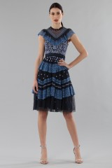 Drexcode - Short dress with flounces and floral embroidery - Needle&Thread - Rent - 7