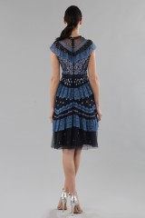 Drexcode - Short dress with flounces and floral embroidery - Needle&Thread - Rent - 6