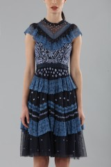 Drexcode - Short dress with flounces and floral embroidery - Needle&Thread - Rent - 8