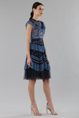 Drexcode - Short dress with flounces and floral embroidery - Needle&Thread - Rent - 3