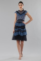 Drexcode - Short dress with flounces and floral embroidery - Needle&Thread - Rent - 2