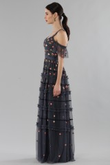 Drexcode - Long dress with off shoulder sleeves - Needle&Thread - Rent - 3