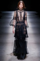 Drexcode - Silk dress with lace inserts and transparencies - Alberta Ferretti - Rent - 5