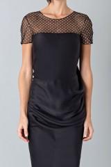 Drexcode - Plumetis and micro-polka dot dress - Blumarine - Sale - 5