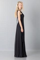 Drexcode - Long black dress with lace neckline - Alberta Ferretti - Rent - 5