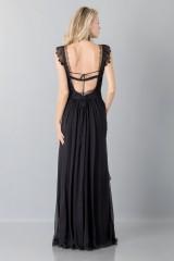 Drexcode - Long black dress with lace neckline - Alberta Ferretti - Sale - 2
