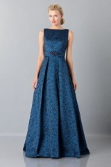 Drexcode - Light blue dress with detail at the waist - Theia - Sale - 1