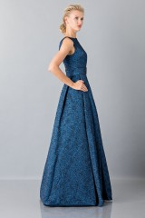 Drexcode - Light blue dress with detail at the waist - Theia - Sale - 3