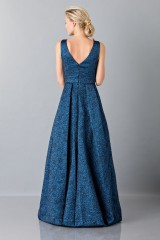Drexcode - Light blue dress with detail at the waist - Theia - Sale - 2