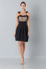 Drexcode - Dress with shoulder straps of processed lace - Blumarine - Sale - 1