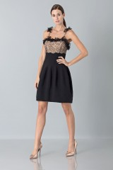 Drexcode - Dress with shoulder straps of processed lace - Blumarine - Rent - 4