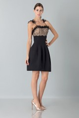 Drexcode - Dress with shoulder straps of processed lace - Blumarine - Rent - 3