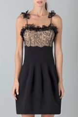 Drexcode - Dress with shoulder straps of processed lace - Blumarine - Rent - 5