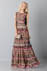Drexcode - Silk and lace chiffon dress - Alberta Ferretti - Sale - 4