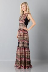 Drexcode - Silk and lace chiffon dress - Alberta Ferretti - Sale - 5
