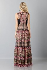 Drexcode - Silk and lace chiffon dress - Alberta Ferretti - Sale - 2