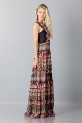 Drexcode - Silk and lace chiffon dress - Alberta Ferretti - Sale - 6