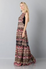 Drexcode - Silk and lace chiffon dress - Alberta Ferretti - Sale - 7