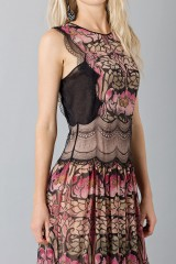 Drexcode - Silk and lace chiffon dress - Alberta Ferretti - Sale - 8