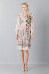 Drexcode - Silk chiffon dress with floral pattern - Alberta Ferretti - Sale - 4