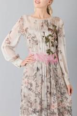 Drexcode - Silk chiffon dress with floral pattern - Alberta Ferretti - Sale - 7