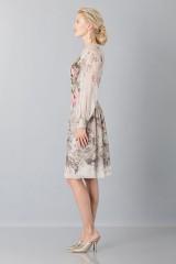 Drexcode - Silk chiffon dress with floral pattern - Alberta Ferretti - Sale - 5