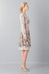 Drexcode - Silk chiffon dress with floral pattern - Alberta Ferretti - Sale - 6