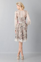 Drexcode - Silk chiffon dress with floral pattern  - Alberta Ferretti - Rent - 2