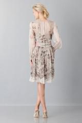 Drexcode - Silk chiffon dress with floral pattern - Alberta Ferretti - Sale - 2