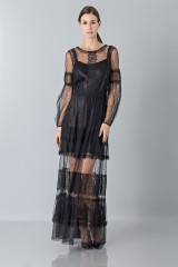 Drexcode - Silk dress with lace inserts and transparencies - Alberta Ferretti - Rent - 1