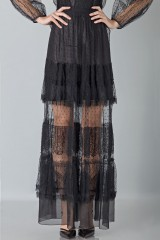 Drexcode - Silk dress with lace inserts and transparencies - Alberta Ferretti - Rent - 11