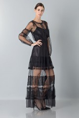Drexcode - Silk dress with lace inserts and transparencies - Alberta Ferretti - Rent - 2