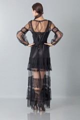 Drexcode - Silk dress with lace inserts and transparencies - Alberta Ferretti - Rent - 6