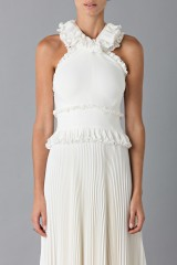 Drexcode - Long white dress with ruffles - Antonio Berardi - Rent - 5