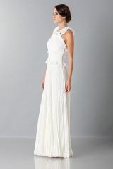 Drexcode - Long white dress with ruffles - Antonio Berardi - Rent - 4