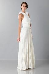 Drexcode - Long white dress with ruffles - Antonio Berardi - Rent - 3