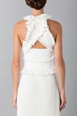 Drexcode - Long white dress with ruffles - Antonio Berardi - Rent - 6