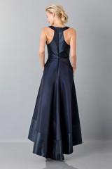 Drexcode - Long asymmetric V-neck blue dress.  - Theia - Rent - 2