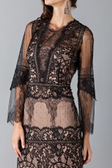 Drexcode - Long dress with lace decorations - Alberta Ferretti - Sale - 6