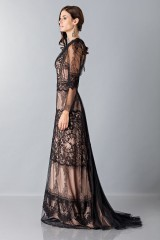 Drexcode - Long dress with lace decorations - Alberta Ferretti - Sale - 5