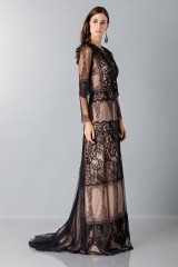 Drexcode - Long dress with lace decorations - Alberta Ferretti - Sale - 4