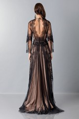 Drexcode - Long dress with lace decorations - Alberta Ferretti - Sale - 2