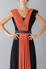 Drexcode - Long dress with central silk insert - Vionnet - Rent - 5