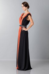 Drexcode - Long dress with central silk insert - Vionnet - Rent - 4