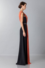 Drexcode - Long dress with central silk insert - Vionnet - Rent - 6