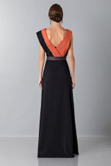 Drexcode - Long dress with central silk insert - Vionnet - Rent - 2
