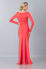 Drexcode - Floor-length dress with deep neck - Vionnet - Sale - 3